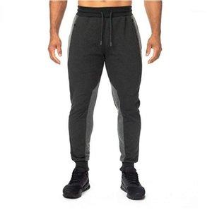 Mens calças de cordão Designer Calças Lápis Natural cor ativa calças estilo Vestuário Geometric Painéis Casual