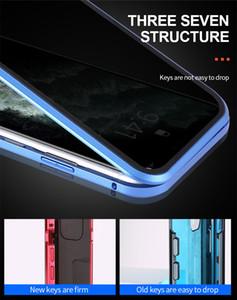 Magnetic cas pour l'iPhone X 7 8 7plus 8plus 11 Pro Max XR XS MAX 11 XS cas Aimant en verre trempé HD Phone Case Cover PC