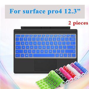 2 Pieces Washable Keyboard Cover Para Microsoft Surface Pro4 Laptop teclado à prova d'água de superfície Film tampa Para Pro 4 Dustproof