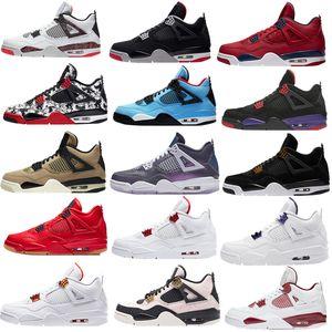 2020 Bred Jumpman gato 4S zapatillas de baloncesto para hombre Cemento Blanco Encore Alas Rojo Fuego aire Singles Retroes 4 IV formadores de dinero Pure