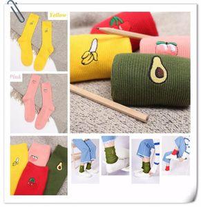 new Harajuku cotton socks fashion cute socks Cartoon fruit pattern piles pile fitness casual tube