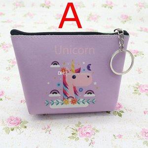 Кошельки Дешевых INS монет NEW Unicorn Женщина GIRLS пу Zipper Mini Изменение Кошелек Деньги монеты сумка Kid