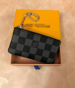 Uomini Donne Key Pouch Zip borsa del portafoglio Portafoglio in pelle i raccoglitori della moneta in pelle chiaveLVLOUISVUITTON