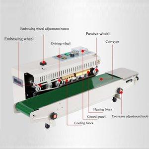 Plastik Poşet Sealer Paketi Makinası Sürekli Film Bant Sealer Yatay Isıtma Sızdırmazlık Paketleme Makinası
