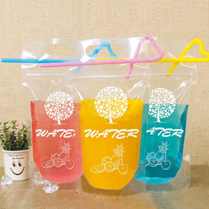 Handhole Water Bag Drink Pouches Resealable Bags Fruit Tree Self Supporting Packaging Storage Disposable Clear Drinkware 0 19rj B2