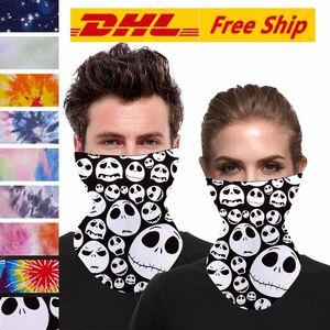 Maschere DHL Halloween scheletro facciale Sciarpa Joker fascia Passamontagna Skull Masquerade per Ski moto in bicicletta Pesca FY6099 Outdoor Sports
