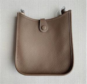 Kadın Debriyaj Çantalar Klasik Evelyn Dana derisi H Togo Gerçek Deri Üst Kalite Tasarımcı çanta Hollow Out Messenger Omuz Çantaları