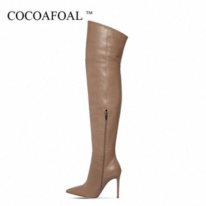 COCOAFOAL Mulheres Dij alta Laarzen Sexy Mulher Inverno elevado gancho Shoes Seja adolescente Plus Size 33 43 Sexy Over The Knees Laarzen Toho #