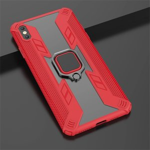 Finger Ring Holder Kickstand Car Magnetic Mount Cover Case Combo Hybrid Anti Shock Predator Case For iPhone 12 11 Pro Max Samsung Note 20