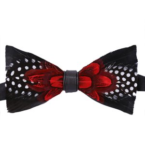 New Classic Natural Feather Wedding Necktie Bow Ties Women Mens Wedding Suits Bow Tie Feather Bowknots Gravatas For Dropshipping