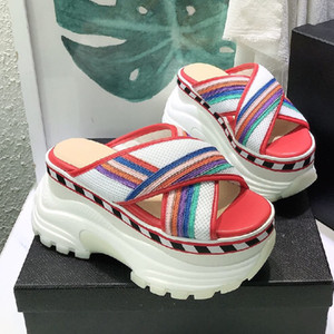 Mixed colors Sandals New Popular Air mesh Woman shoes Fashion Sandals Genuine Leather high platform Open toe Woman shoes mixed colors