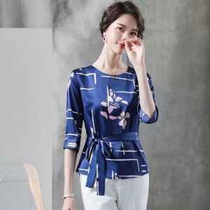 Summer Half Sleeve Printing Shirt Dress Office Lady Formal Work Clothes Women Pants Woman Set Suits 6159