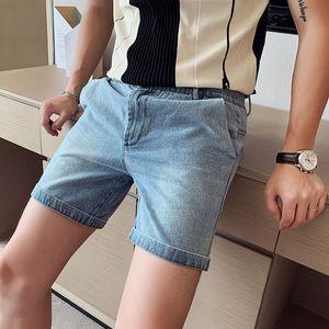 High Quality Summer Jeans Shorts For Men Korean Slim Fit Casual Denim Shorts Men Hot Sale Streetwear Homme All Match 3XL