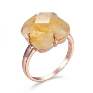 2020 Fashion 925 Silver Ring Sterling Silver Engagement Jewelry Imitation Topaz Rings Fine Jewelry for Women Gift