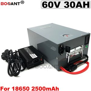 60v 1500w 2000w E-Bike Lithium ion Battery pack 16S 12P 60V 30AH Electric Bicycle Scooter with a metal box +5A Charger