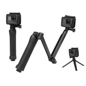 3 Way Grip impermeable Monopod selfie palillo de soporte del trípode para GoPro héroe 8 7 5 4 Sesión de Yi 4K Sjcam Eken para Go Pro accesorios LJ200904