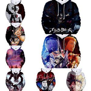 yeni moda siyah dört yapraklı Digital kazak Çocuk Yetişkin yonca dijital baskı 3D kapüşonlu giyim kazak D09ew çocuk giyim