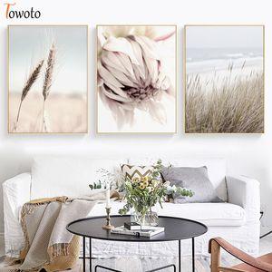 Planta Cópia botânica Neutral Natureza Cartazes e cópias nórdicos Poster 50x70 Canvas florais pintura de parede Art Scandi Decoração Moderna