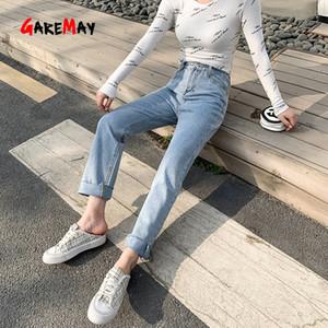 Garemay Vintage High Waist Tassel Jeans Plus Size Straight Leg Jeans Streetwear 2020 Spring Boyfriend Ankle Women Pants