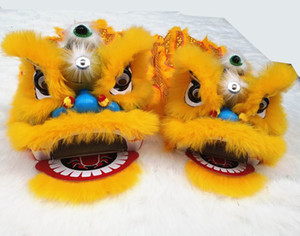 Chinese Pur Lion Dance Mascot Costume Pure Wool Southern Lion For Two Kids Toys Clothing Advertising Carnival Halloween Xmas