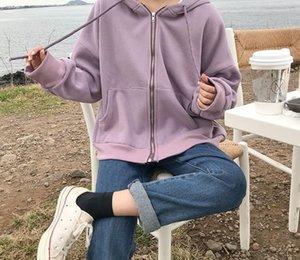 4 colors 2020 Fashion Women Autumn Winter Hoodie Coats Warm Zipper Jacket Casual Clothing Tops Female Coat womens00