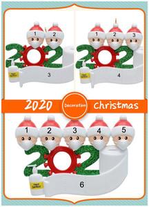 크리스마스 마스크 가족 of1-7로 장식 유행성 사회 파티 거리를 산타 클로스 매달려 2,020 검역 수지 크리스마스 트리 장식