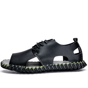 sandales homme in hombre s flat masculino for shoes large leather slip 39 outdoor men sandalhas sandals sport beach para shoe