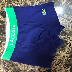 2020 Мода шаблон Гей Brief для нижнего белья Человек UnderPanties Sexy Мужские боксеры хлопка Underwears шорты LACOSTE