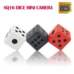 Hd Video Recorder инфракрасного ночного обнаружения SQ16 Мини Dice камеру 1080p Mini Dv брелок 360 градусов вращения Цифровые фотокамеры