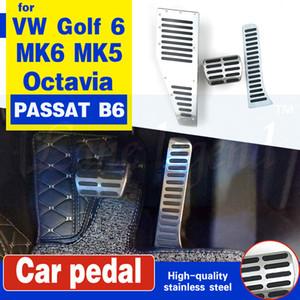 RHD pedal para VW Golf 6 MK6 MK5 Scirocco Octavia PASSAT B6 acero inoxidable B CC automático resto del pie del acelerador del freno Pedales