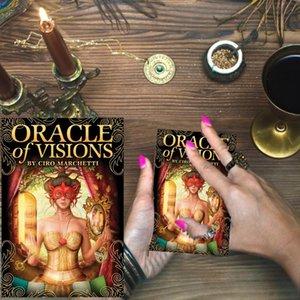 52pcs do Oracle de jogar plataforma Visions cartões de Tarot Board Game Cards For Lovers Partido Entretenimento qyltbe mywjqq