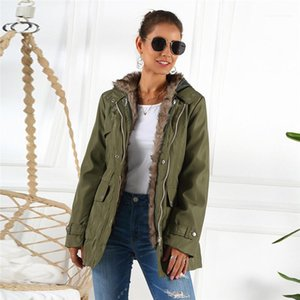 Winter Jacket Casual Womens Long Sleeve Coats Womens Designer Solid Trench Coats Fashion Liner Detachable Warm