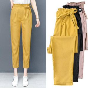 style casual pants for women 2020 new fashion high waist woman long pants vintage aesthetic loose suit trousers black
