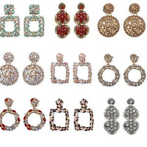 Geometric Earring Best lady Fashion ZA Resin Drop Earring For Women Wedding Luxury Jewelry Boho Elegant Shiny Dangle Statement Earrings .