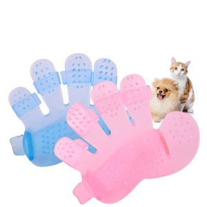 Pet Bath Brush Cat Dog Grooming Massage Glove Pets Cleaning Tool Hair Remover Comb Deshedding Shower Gloves