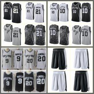 2020SanAntonioMaglia Spurs # DeMar DeRozan Tim Duncan Tony Parker Manu Ginobili; swingmennbapullover di pallacanestro del pullover