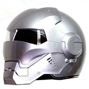 Maséi 610 Ironman Motorcycle Caspetto Casque Motocross Mezza casco Personalità Open Face Face Trend Cycle Bright Silver