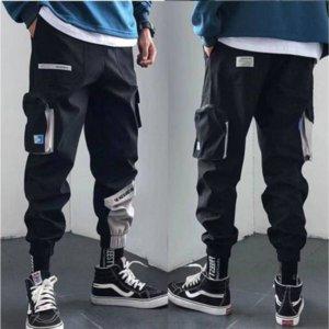 Marque Designer Streetwear Hommes multi poches Cargo sarouel Hip Hop Casual Male piste Pantalons Joggers Pantalons Mode Harajuku Pantalons Hommes