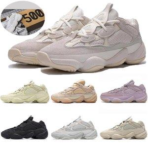 사막 쥐 소프트의 비전 돌 뼈 흰색 유틸리티 검은 소금 카니 예 웨스트 500 실행 신발 남성은 상자 트레이너 스포츠 운동화 여자