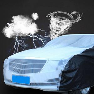 PEVA 보호 자동차 커버 자동차 커버 야외 통기성 눈 증명 투명 범용 안티 UV 양산 O6hs 번호