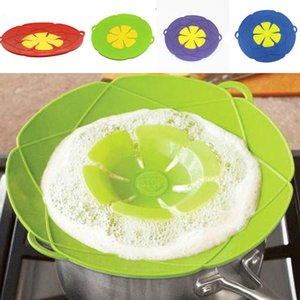 Anti Overflow Pot Cover Silicone Pot Boil Anti Spill Lid Kitchen Cookware Oven Safe Pot  Pan Lid Petal Spill Stopper Lid Bh2936 Tqq