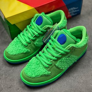 2020 Green Bear Grateful Chaussures de course des femmes des hommes de danse Trois Ours Bleu Jaune Rose Paquet récent Sports de plein air sneakers US 5-11 avec la boîte