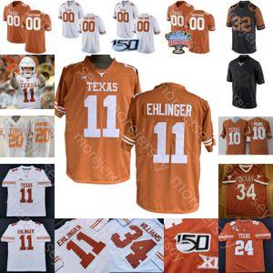 Пользовательские 2020 Техас Longhorns футбол Джерси NCAA College Гудвин Huff Гриффин Аарон Росс Джонсон Рикки Уильямс Дэвис Уильямс Седрик Бенсон