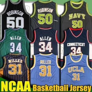 NCAA UCLA Reggie Miller Ray Larry Allen Iverson Vogel Jersey Reggie Grant-Miller Hill David Julius Erving Robinson College Basketball Jersey