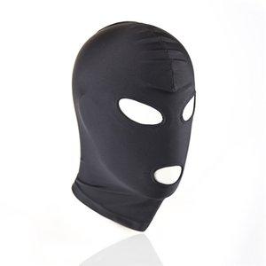 Bdsm Hood Sexy Toys Open Mouth Augen Bondage-Partei Cosplay Slave Bestrafen Kopfbedeckungen Mask - Adult Game Sex Produkte