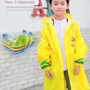 cartone animato 7YRyk per bambini con zainetto Cloak Bag sede mantello poncho impermeabile Xiaobao per Boy alunni impermeabile