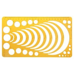 Los gobernantes baratos resina K Plantilla Regla de la plantilla de medición herramienta para dibujar el tamaño de muchos gobernantes círculo redondo