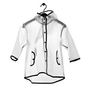 Boy Girl Children Hooded Waterproof Silk Transparent Raincoat Kids Tassel Pointy Hat Clear Rain Coat Rainwear