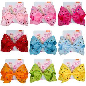 Clip Paillettes JOJO Siwa capelli 2020 ragazze 8inch Bow Barrettes Cuore Ribbon Bow forcine jojo Siwa bambini clip HHA1557