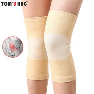 Baumwolle elastische Knie-Klammer-Stützkissen Elasticated kneepads Bequeme Atmen Bein Arthritis Injury Bandage Sleeve Charcoal gestrickte Knie